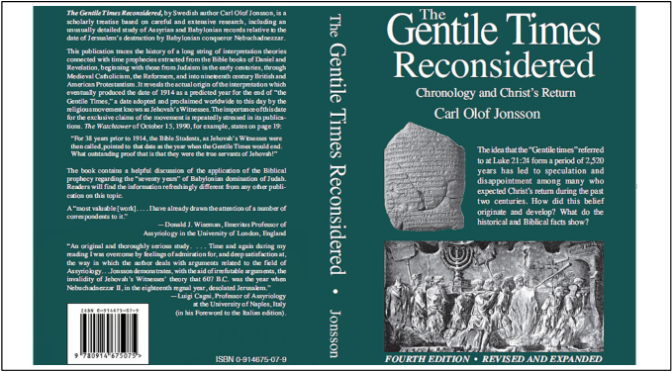 The Gentile Times Reconsidered – Carl Olof Jonsson (390 pages) with bonuses